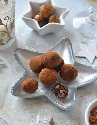 Truffes chocolat et marrons glacés sans lactose