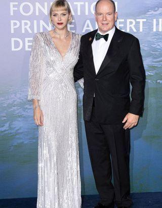 Charlène de Monaco aux côtés de Johnny Depp et Cindy Bruna pour une soirée spéciale