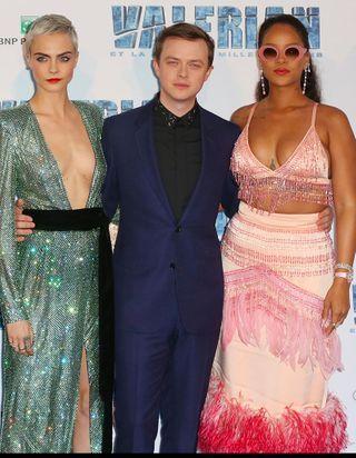 """Les stars du cinéma français réunies autour de Rihanna à l'avant-première de """"Valérian"""""""