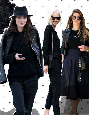 3 façons de rendre le total look noir tentant