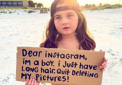 Pourquoi ces photos de jeunes garçons aux cheveux longs sont-elles censurées sur Instagram ?