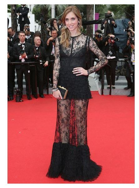 Chiara Ferragni en robe transparente