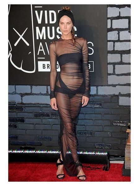 Erin Wasson en robe transparente