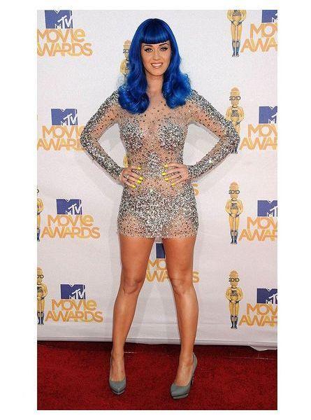 Katy Perry en robe transparente