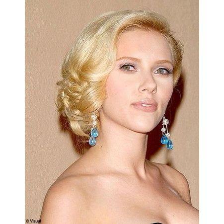 Chignon de c t scarlett johansson ses plus belles coiffures elle - Scarlett prenom ...