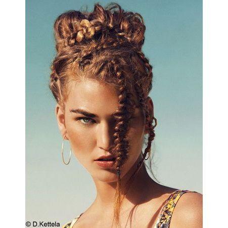 Chignon nattes - 50 coiffures faciles et rapides - Elle