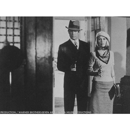 Warren Beatty et Faye Dunaway dans Bonnie Clyde