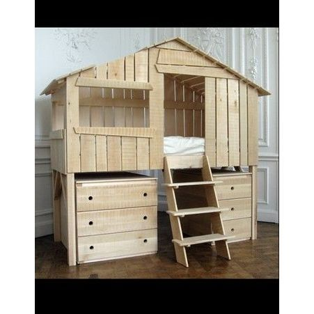 lit cabane 50 id es d co pour une chambre d 39 enfant elle. Black Bedroom Furniture Sets. Home Design Ideas