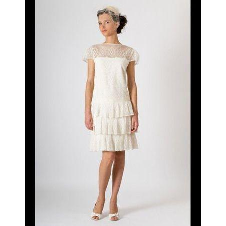 Robe courte en soie et tulle Louise dentelle - 50 robes de mariée qui ...