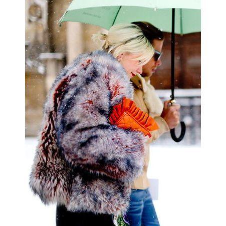 Street style comment etre chic sous la neige