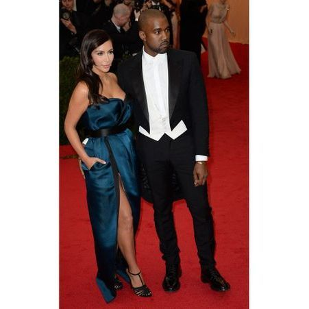 Kim Kardashian et Kanye West en Lanvin