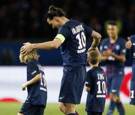 Zlatan et ses deux fils, Maximilien et Vincent