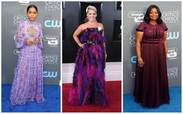 5. purple red carpet trend