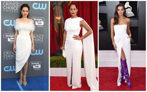 7. white dresses red carpet trend