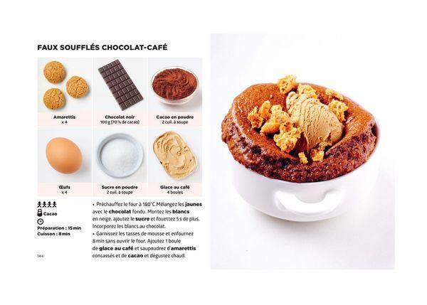 Faux souffles chocolat cafe - Simplissime Desserts - Jean-François Mallet