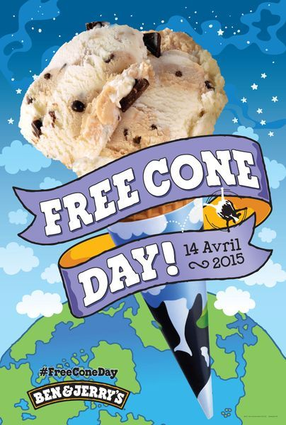 Free Cone Day - Ben and jerrys