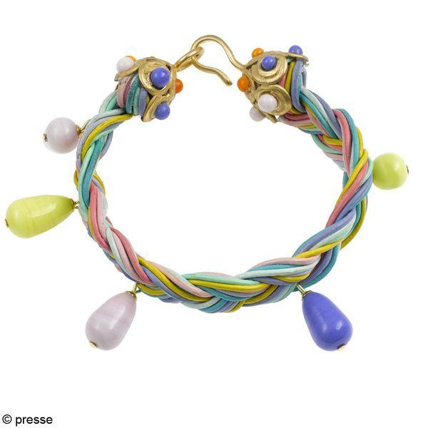 Gripoix-Bracelet-liens-cuirs-breloques