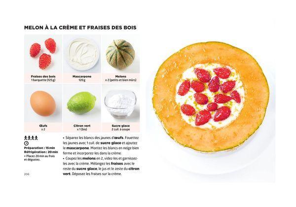 Melon a la creme et fraises des bois - Simplissime Desserts - Jean-François Mallet