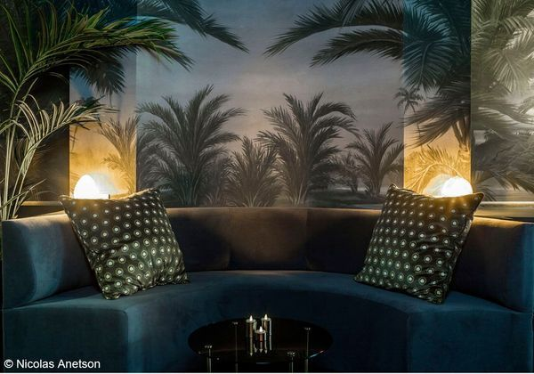 papier peint exotique hotel snob