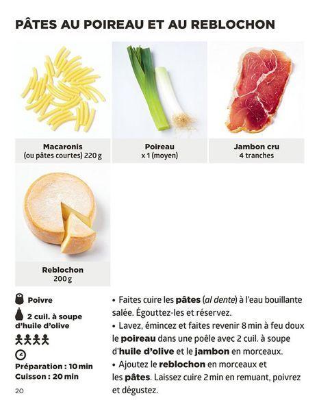 Pates au poireau et au reblochon recette - Simplissime pates Jean-François Mallet