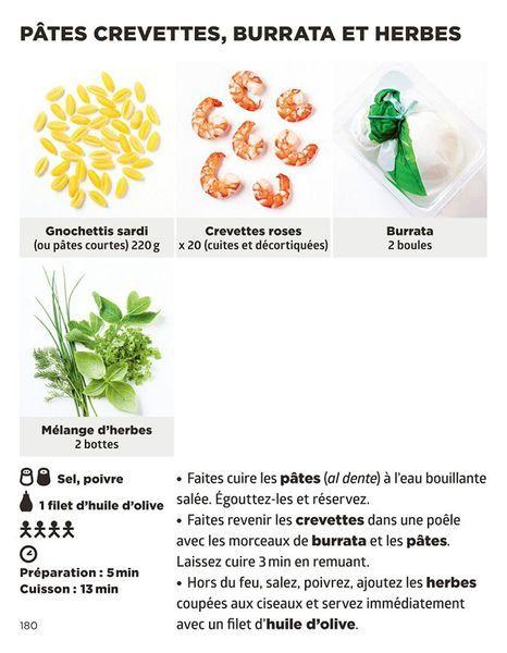 Pates crevettes burrata et herbes recette - Simplissime pates Jean-François Mallet