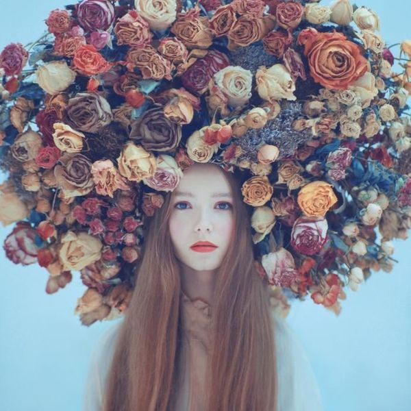 portrait-in-flowers © Oleg Oprisco