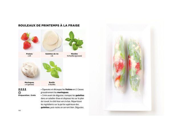 Rouleaux de printemps a la fraise - Simplissime Desserts - Jean-François Mallet