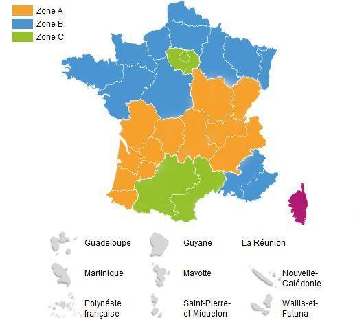 Calendrier Garde Classique 2019 Zone B.Calendrier Scolaire 2018 2019 Les Dates Par Zone Des