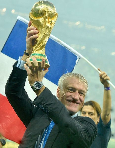 Didier Deschamps en roue libre