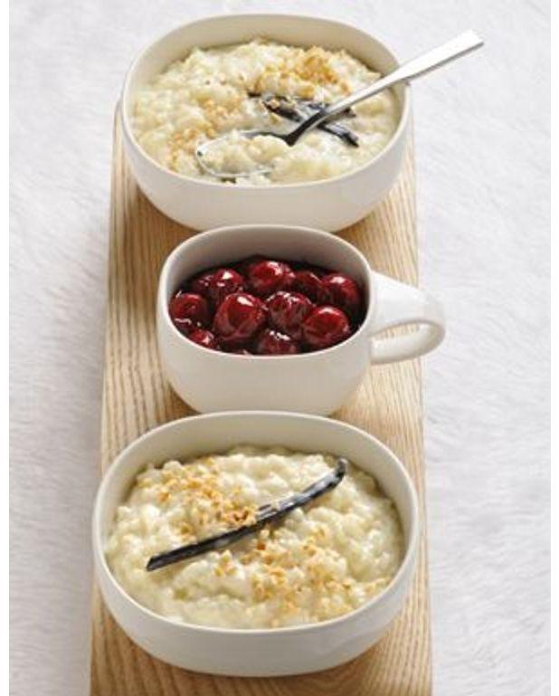 riz au lait sauce cerises pour 6 personnes recettes. Black Bedroom Furniture Sets. Home Design Ideas