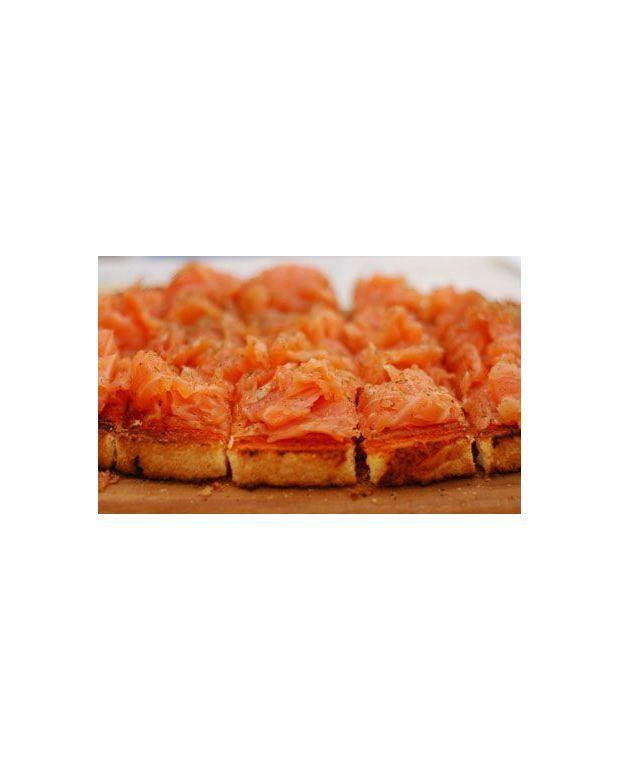 Bruschetta au saumon