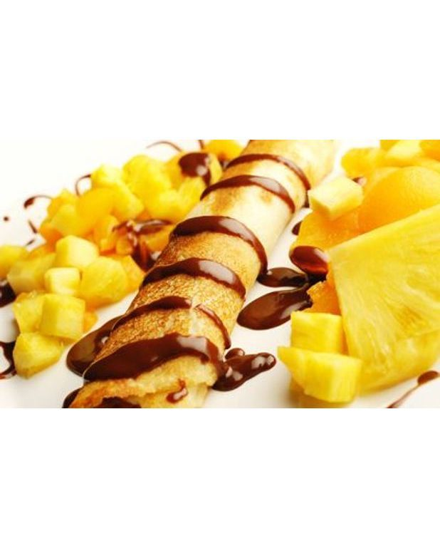 crepes farcies a l ananas flambees