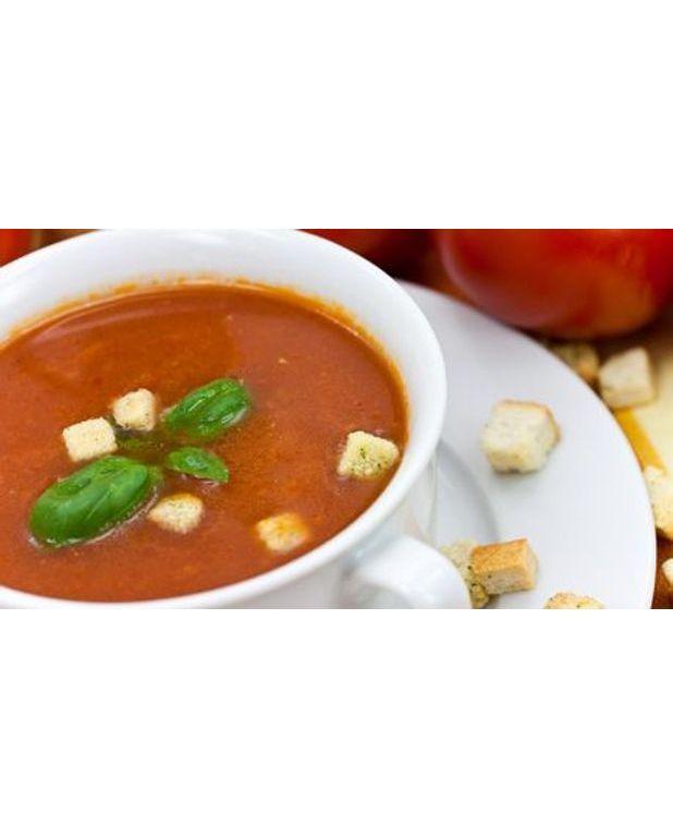 Soupe d'aubergine tomatée à l'ail pour 4 personnes