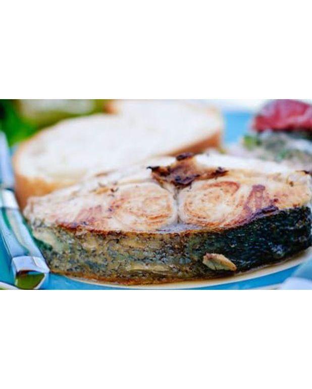 steaks de thon l 39 huile de noix et accras de potiron pour 4 personnes recettes elle table. Black Bedroom Furniture Sets. Home Design Ideas