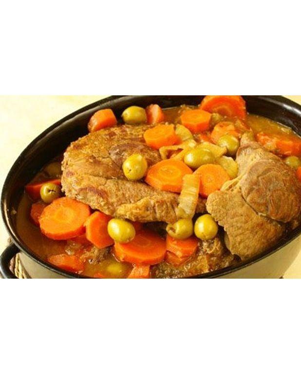 Veau aux olives et aux carottes pour 4 personnes - Recette de cuisine portugaise avec photo ...