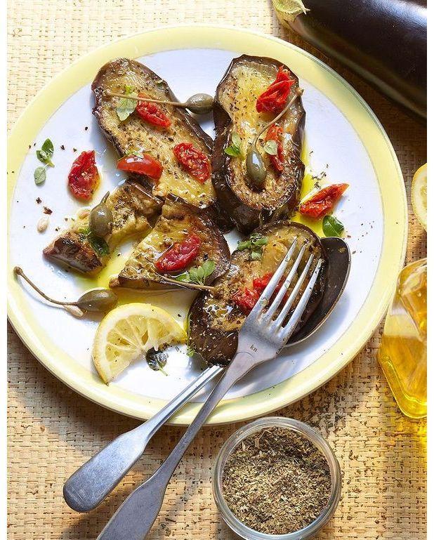 Aubergines grill es en citronnette pour 4 personnes recettes elle table - Recette aubergine grillee ...