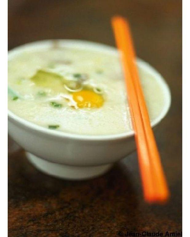 congee porridge de riz pour 6 personnes recettes elle table. Black Bedroom Furniture Sets. Home Design Ideas