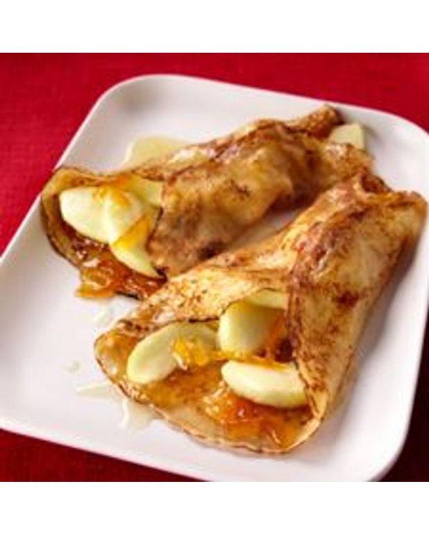 cr pes aux pommes caram lis es au sel de gu rande pour 4 personnes recettes elle table. Black Bedroom Furniture Sets. Home Design Ideas