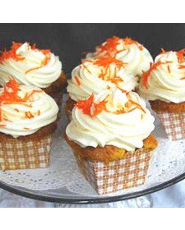 Cupcakes aux carottes gla age fromage la cr me pour 12 personnes recettes elle table - Glacage cupcake facile ...