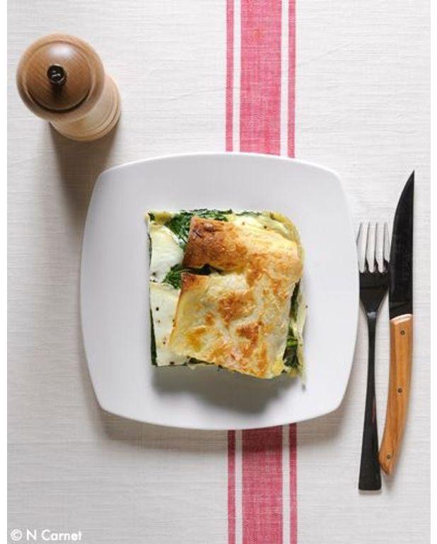 lasagnes ch vre pinards pour 6 personnes recettes elle table. Black Bedroom Furniture Sets. Home Design Ideas