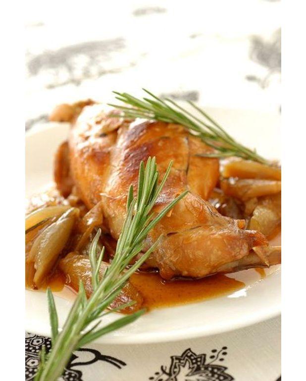 Lapin gratin au vin recettes elle table - Cuisine lapin au vin blanc ...