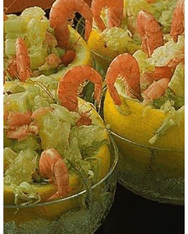 Pamplemousses hors d 39 oeuvre pour 4 personnes recettes for Hors d oeuvre avec saumon fume