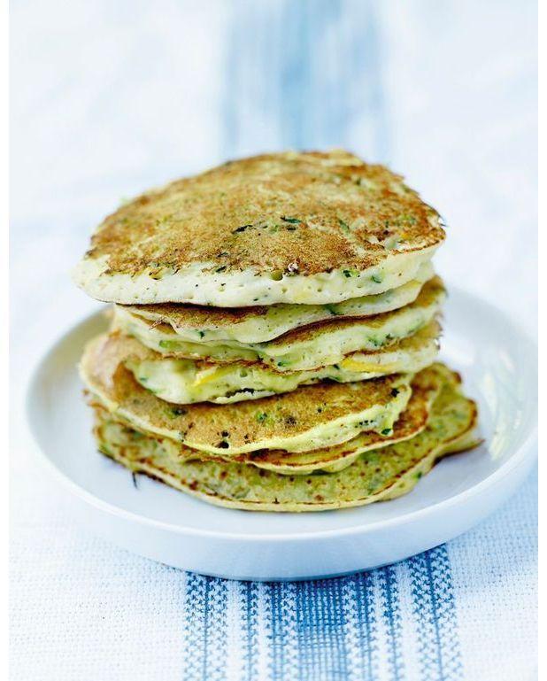 Pancakes de courgettes et ricotta pour 4 personnes recettes elle table - Recette pancakes herve cuisine ...