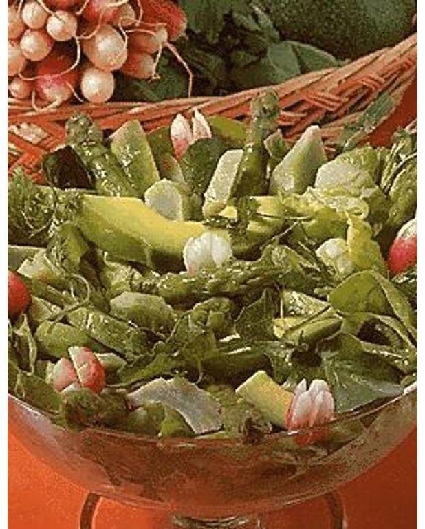 salade verte pour 4 personnes recettes elle table. Black Bedroom Furniture Sets. Home Design Ideas