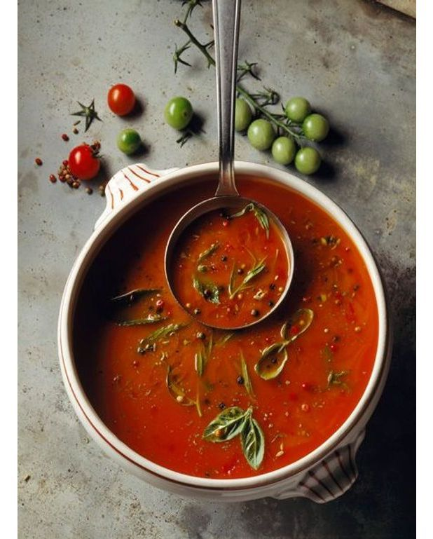 Soupe rouge de s te recettes elle table for Table de cuisine rouge