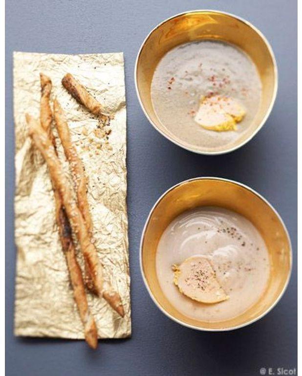Velout de ch taignes au foie gras pour 4 personnes recettes elle table - Recette de foie gras ...