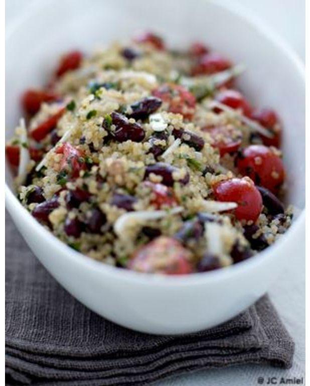 taboul de quinoa aux haricots rouges pour 4 personnes recettes elle table. Black Bedroom Furniture Sets. Home Design Ideas
