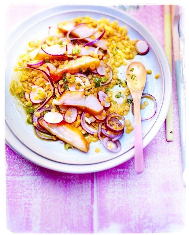 Lentilles jaunes oignons rouges et haddock pour 6 - Cuisine tv recettes minutes chrono ...