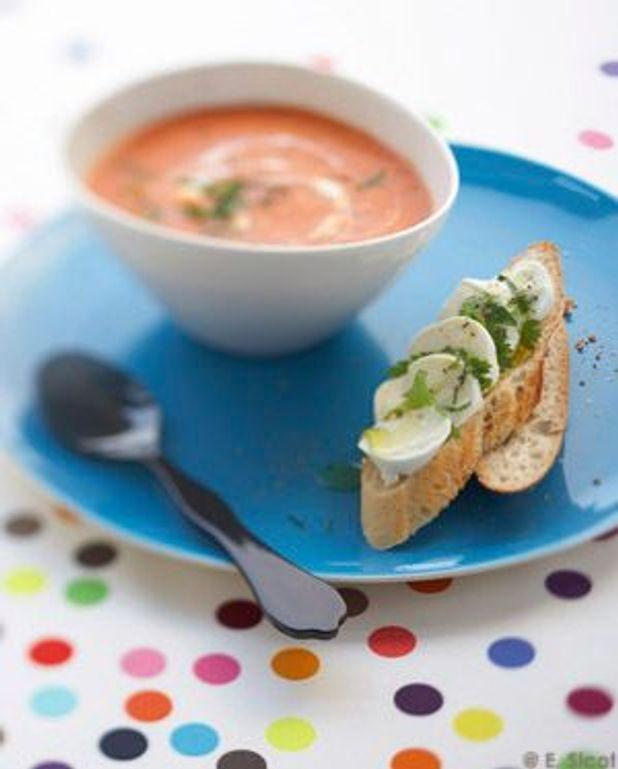 Soupe tomates mascarpone