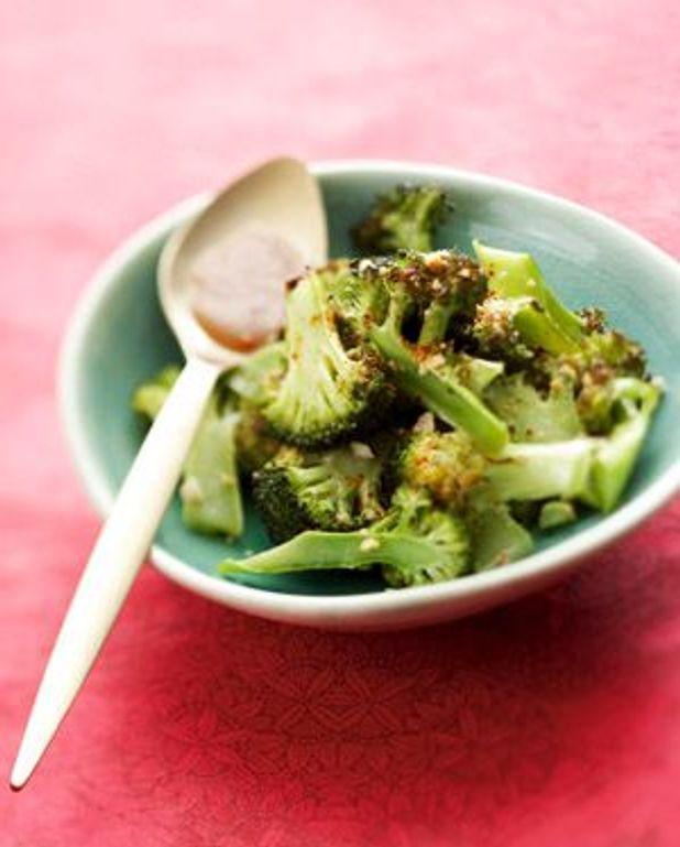 Brocolis grillés à la pâte de sésame